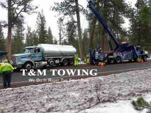 Towing Service of Oil Tanker During Recovery